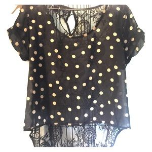 Forever 21 polka dots blouse